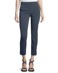 Peserico Four Way Stretch Cropped Pants Navy Women's