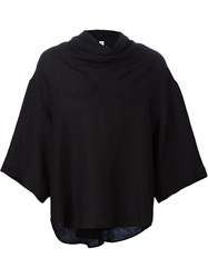 Damir Doma Cowl Neck Wide Fit T Shirt Black