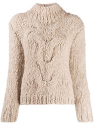 Snobby Sheep Cashmere Cable Knit Jumper Neutrals