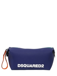 Dsquared Logo Rubber Toiletry Bag Blue