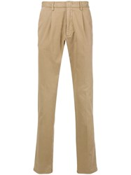Z Zegna Straight Leg Chinos Brown