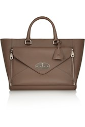 Mulberry The Willow Leather Tote Brown