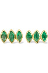 Brooke Gregson 18 Karat Gold Emerald Earrings Gold Emerald
