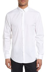 Calibrate Men's Big And Tall Trim Fit Stretch Woven Sport Shirt White