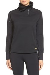 New Balance Soft Shell Pullover Black