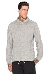 Huf Fleece Coaches Jacket Gray