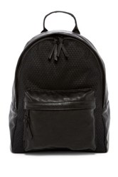 Poverty Flats Sport Faux Leather Backpack Black