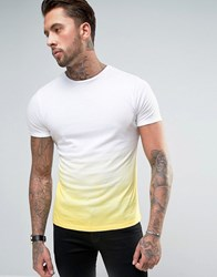 Another Influence Ombre Fade Out T Shirt Yellow