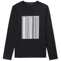 Alexander Wang Long Sleeve Barcode Tee Black
