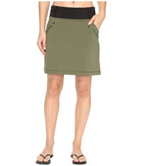 Lucy Do Everything Skirt Rich Olive Women's Skirt Metallic