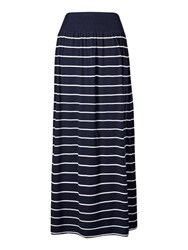 Fat Face Jade Striped Skirt Navy