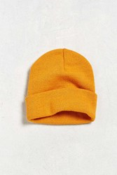 Urban Outfitters Uo Essential Knit Beanie Mustard