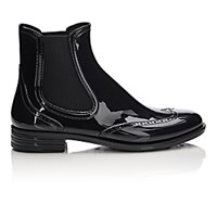 Barneys New York Women's Wingtip Rain Boots Black Blue Black Blue