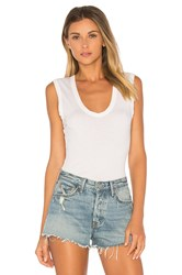 Velvet By Graham And Spencer Estina Scoop Neck Tank White
