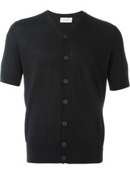Ballantyne Short Sleeve Cardigan Black