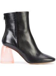 Ellery Clear Chunky Heel Boots Black