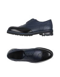 Versace Collection Lace Up Shoes Dark Blue