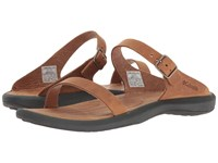 Columbia Caprizee Slide Nubuck Elk Dark Grey Women's Slide Shoes Brown
