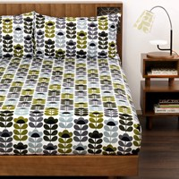Orla Kiely Sweet Pea Sea Blue Duvet Cover Super King