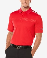 Callaway Men's Performance Embossed Golf Polo Tango Red