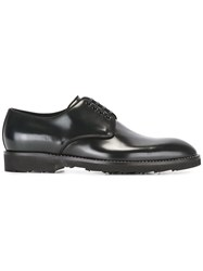 Dolce And Gabbana Piped Derby Shoes Black