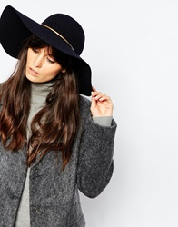 Reiss Bar Detail Floppy Hat Navy