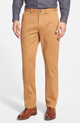 Nordstrom Straight Leg Washed Chinos Tan Chipmunk