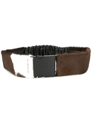 N 21 No21 Engraved Logo Belt Brown