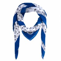 Gyunel X27 Protection Circle' Silk Scarf Black White Blue