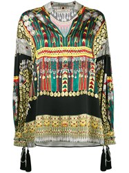 Etro Embroidered Tunic Blouse Women Silk Cotton Polyester Viscose 44