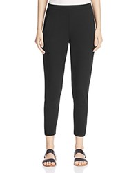 Eileen Fisher Slim Ankle Slouchy Pants Black