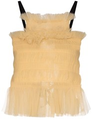 Molly Goddard Back Tie Tulle Top 60