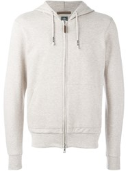 Eleventy Zip Up Hoodie Nude And Neutrals