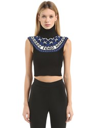 Fendi Heritage Wool And Cashmere Cropped Sweater