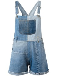 Re Done Patchwork Dungarees Women Cotton Xs Blue