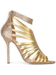 Aperlai Open Toe Sandals Metallic