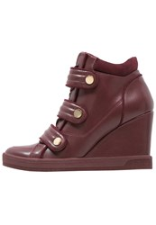 Aldo Ailia Hightop Trainers Bordo Bordeaux