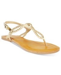 American Rag Keira Braided Flat Sandals Only At Macy's Women's Shoes Gold