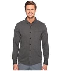 Travis Mathew Couig Woven Heather Black Men's Clothing