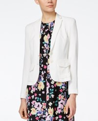 Cece By Cynthia Steffe Long Sleeve Notched Collar Blazer New Ivory