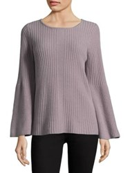 Design History Cashmere Bell Sleeve Sweater Mink