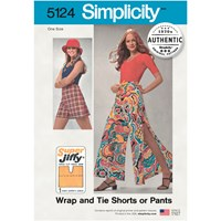 Simplicity 'S Vintage '70S Wrap Tie Shorts And Trousers Sewing Pattern 5124