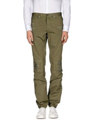 Incotex Red Trousers Casual Trousers Men Military Green