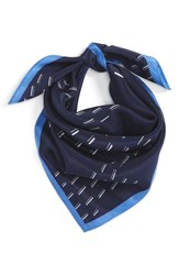 Halogenr Women's Halogen Square Silk Scarf Navy Combo