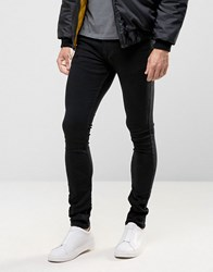 Religion Skinny Fit Hero Jeans In True Black True Black
