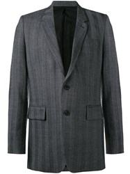 Ami Alexandre Mattiussi Two Button Long Jacket Men Polyester Wool 48 Grey