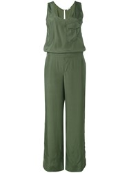 P.A.R.O.S.H. Flared Jumpsuit Women Silk Xs Green