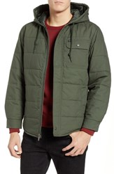 Brixton Cass Hooded Quilted Water Repellent Cotton Jacket Pine