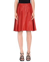 Pinko Skirts Knee Length Skirts Women Red
