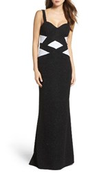 Xscape Evenings Women's Banded Mermaid Gown
